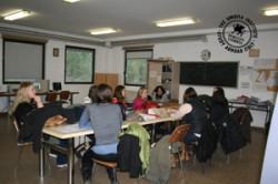Students listen to the internship details at Alessi High School.