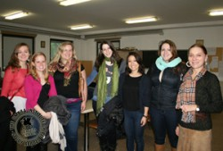 Umbra students with Lucia Amico, the Alessi High School intern coordinator.