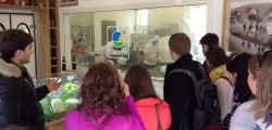 Ohio Wesleyan students visit a cheese cooperative in Perugia while hosted by the Umbra Institute Food Studies Program. (Photo courtesy of OWU Professor Christopher Fink.)