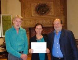 Elisa Ascione with Allen Grieco and Peter Scholliers.